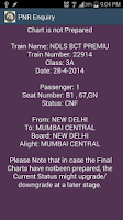 Screenshot of PNR Status