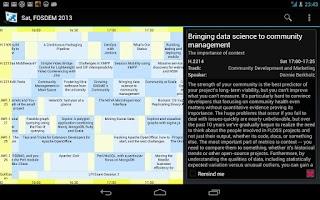 Screenshot of Giggity (schedule viewer)