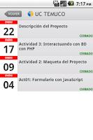 Screenshot of UCTEMUCO