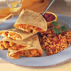 Chicken Quesadillas and Fiesta Rice