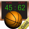 Basketball Score Gold icon