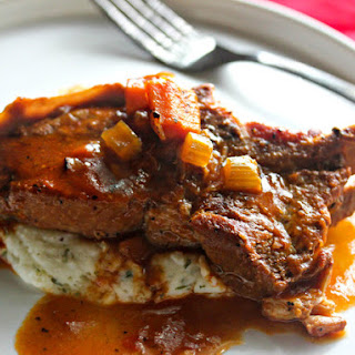 Cider-Braised Country-Style Pork Ribs With Creamy Mashed Potatoes