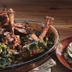 Braised Lamb Shanks with Swiss Chard
