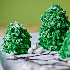 Winter Pine Tree Cakes