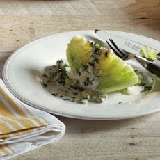 Wedge Salad with Buttermilk Dressing and Blue Cheese
