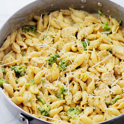 Chicken-Broccoli Shells and Cheese