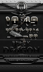 dragon digital clock black - screenshot