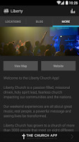 Screenshot of Liberty Church App