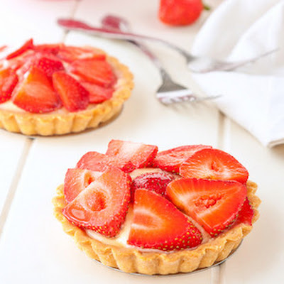Strawberry Custard Tarts