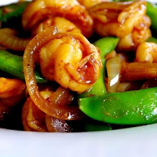 Malaysian Fried Shrimp With Sugar Snap Pea Pods