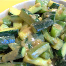 Courgette and Green Pepper 'sabzi' (Tori Aur Hari Mirch Ki Sabzi