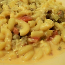 Sausage, Tomato, Macaroni and Cheese Casserole
