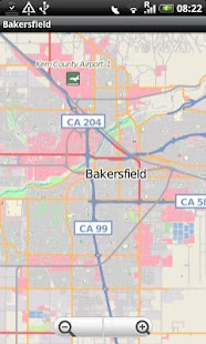 Bakersfield Street Map - screenshot