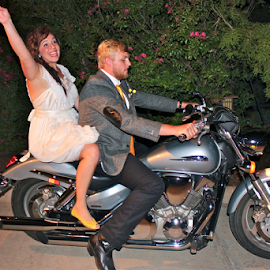Wedding Departure by Priscilla Clark - Transportation Motorcycles (  )