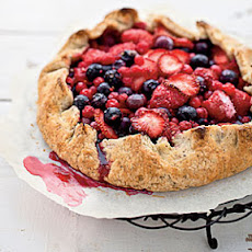Summer Berry-and-Hazelnut Galette