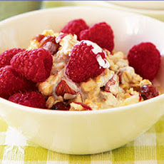 Honey Muesli With Raspberries & Hazelnuts