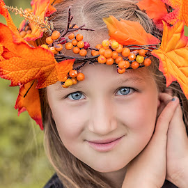 by Nancy Kearney - Babies & Children Child Portraits ( autumn, fall, children, cute,  )