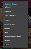 Screenshot of LibriVox Audio Books Supporter