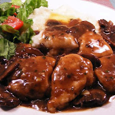 Chicken Medallions With Sweet Sherry & Mushroom Sauce