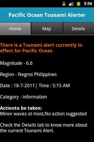Pacific Ocean Tsunami Alerter