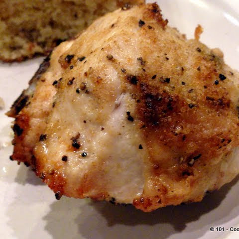 Garlic Oven Roasted Bone-in Skin-on Chicken Breast (AKA Split Chicken Breast)