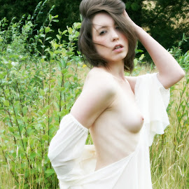Country Girl by Oliver Cook - Nudes & Boudoir Artistic Nude ( countryside, girl, nude, woman, naked, breasts, beautiful, meadow, beauty, pretty )