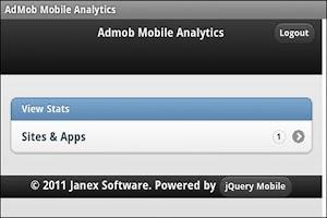 Screenshot of AdMob Mobile Analytic