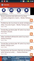 Screenshot of Cruz Azul SDM