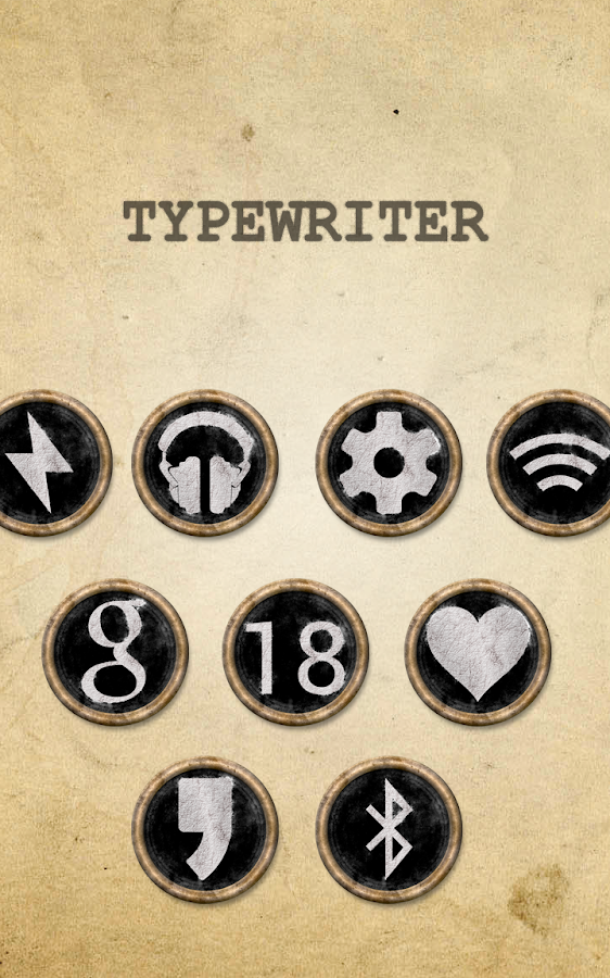 TYPEWRITER - Icon Pack Screenshot 2