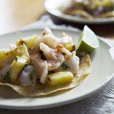 Pineapple-Shrimp Tostadas