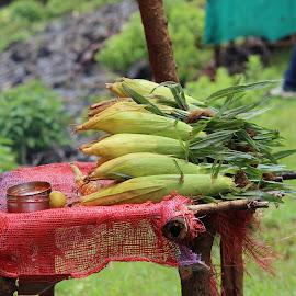 Food for sale by Supriya Bote - Food & Drink Fruits & Vegetables ( canon, love, life, food, street, random, eating, eat, favorite, rains, corn )