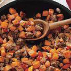 Sweet-Potato and Sausage Hash