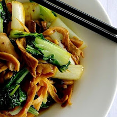 Stir Fried Bok Choy and Mushrooms