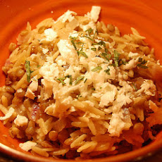 Greek-Style Lemony Rice and Orzo Pilaf With Feta