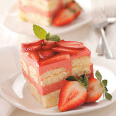 Strawberry Rhubarb Torte Recipe