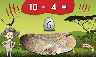 Screenshot of Dinosaur Park Math Lite