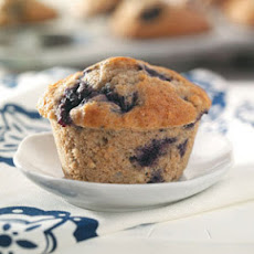 Blueberry Muffins (Quick Muffin Mix and applesauce)