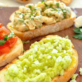 Celery and Lime Bruschetta