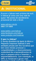 Screenshot of Sebrae