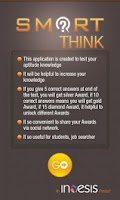 Screenshot of Smart Think Aptitude Test