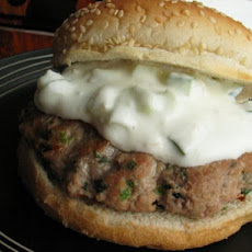 Turkey and Herb Burgers With Yogurt Lemon Dressing