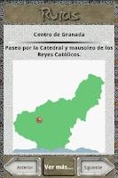 Screenshot of Granada city guide