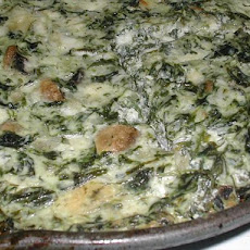 Crustless Dill Spinach Quiche With Mushrooms and Cheese
