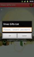 Screenshot of Xmas Gifts List