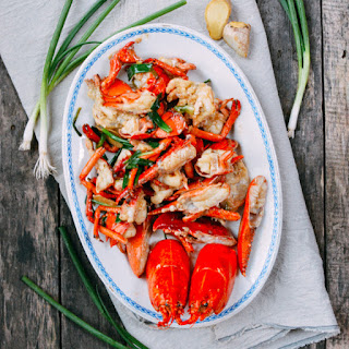 Cantonese-Style Ginger Scallion Lobster