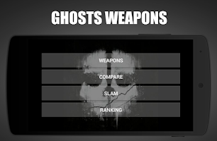 Screenshot of Ghosts Weapons and Guns