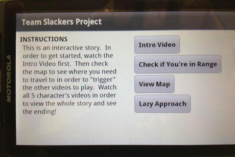 Team Slackers Mobile App