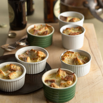 Farmhouse Cheese and Caraway Soda Bread Puddings