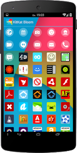 Apex/Nova - KitKat Bloom Icons - screenshot