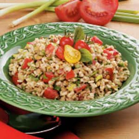 Brown Rice Lentil Salad